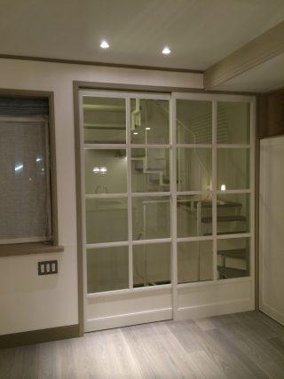 ガラス戸 木製 洋風
