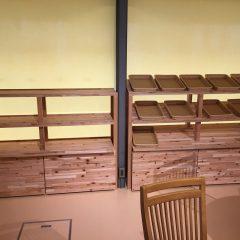 店舗什器 陳列棚 木製 ナチュラル